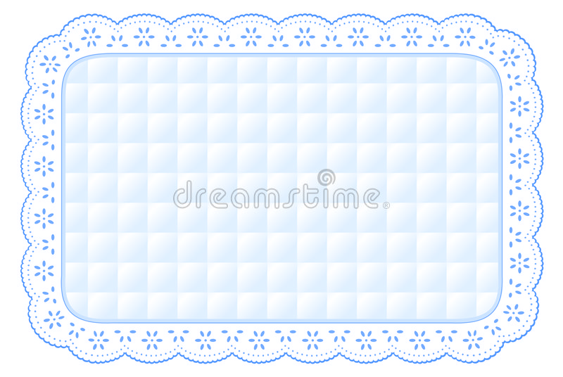 Quilted Eyelet Lace Place Mat Royalty Free Stock Photo