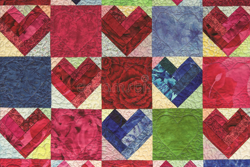 Quilted Heart royalty free stock photos