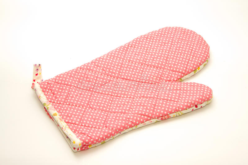 Quilted heat protective mitten royalty free stock image