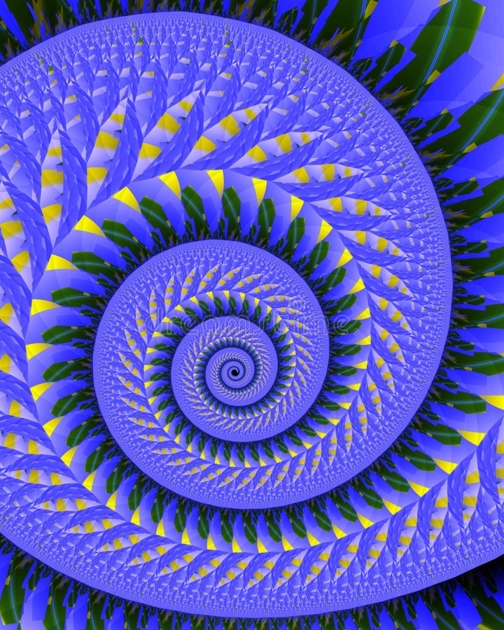 Download Quilted spiral stock illustration. Image of green, pattern - 1133884