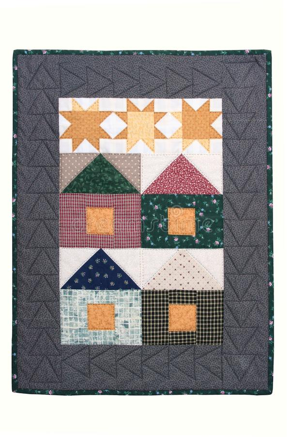 Quilted wall hanging royalty free stock image