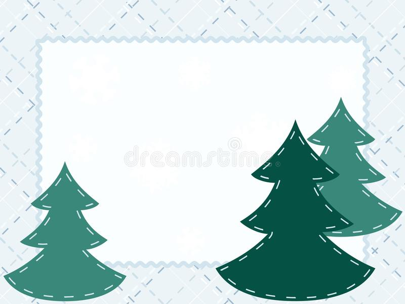 Download Quilted Winter Postcard With Evergreens Royalty Free Stock Photography - Image: 16112327