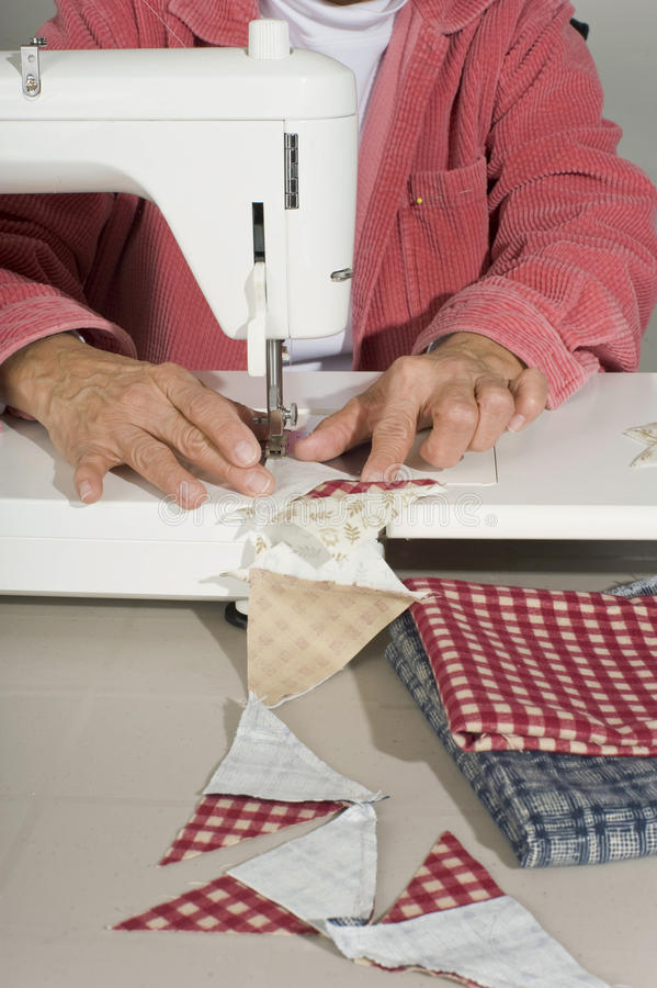 Download Quilter Sewing Pieces Of Fabric. Stock Photography - Image: 17946822