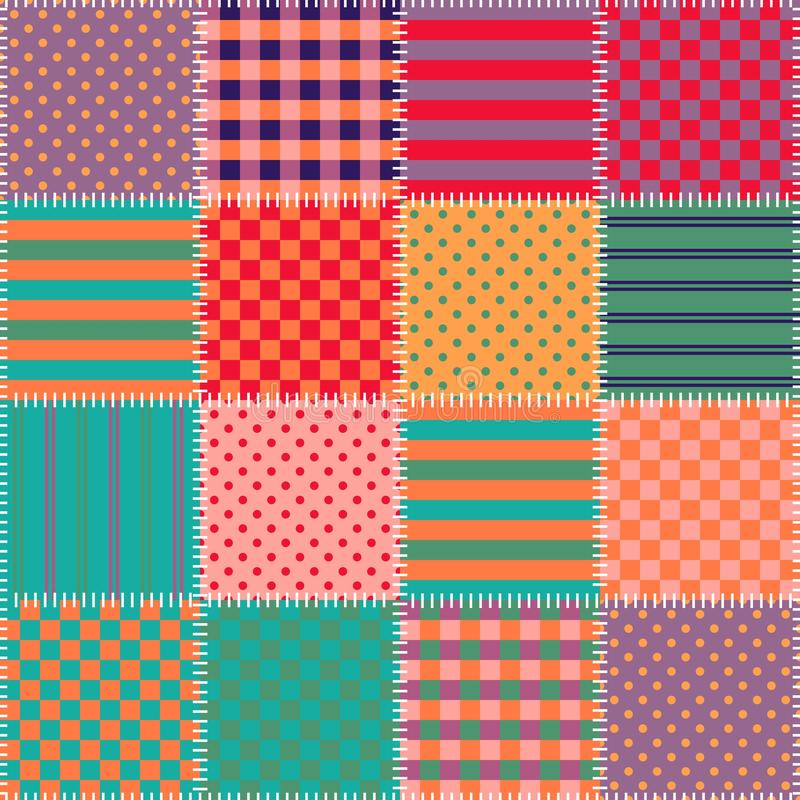 Quilting design. Colorful background. Seamless patchwork pattern. Vector illustration vector illustration
