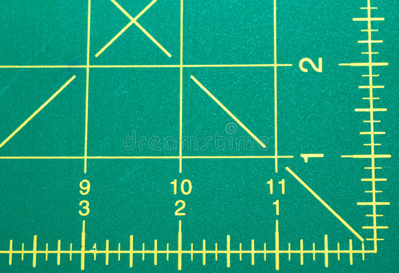 Quilting Mat. A mat tool used to measure fabric for quilting and sewing projects stock image