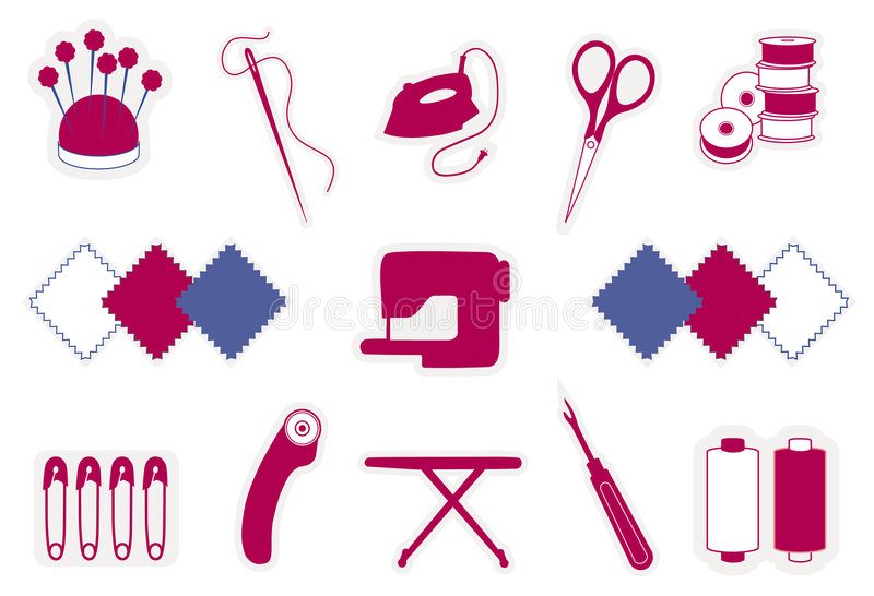 Download Quilting & Patchwork Icons Stock Images - Image: 6241624