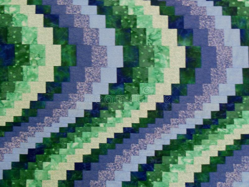 Quilting Pattern Blues and Greens royalty free illustration