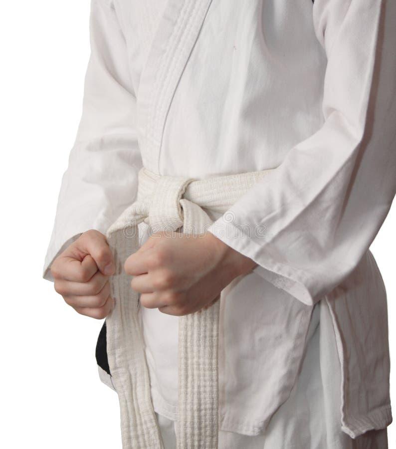 Download Quimono E Uma Correia Branca. Foto de Stock - Imagem de luta, uniforme: 26501268