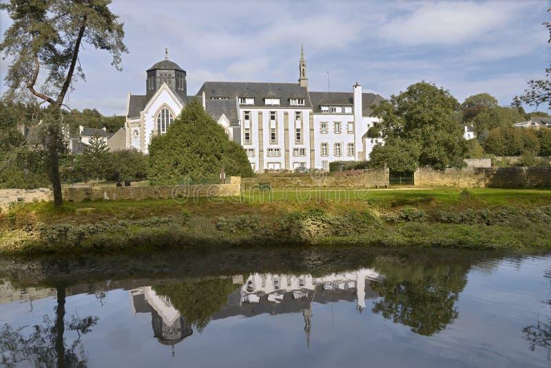 Quimperlé的修道院在法国 库存照片