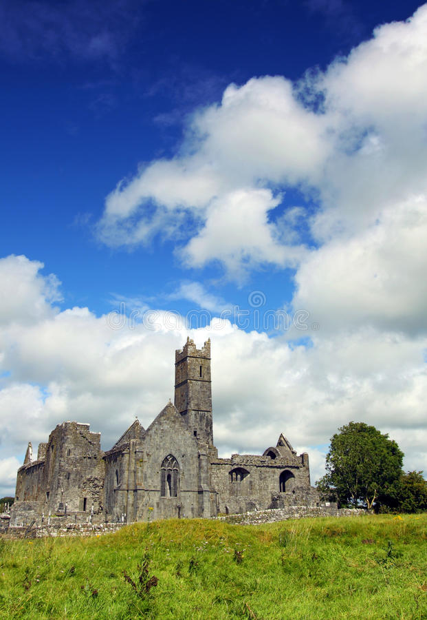 Quin Abbey Co. Clare Ireland. On a sunny summers day royalty free stock images