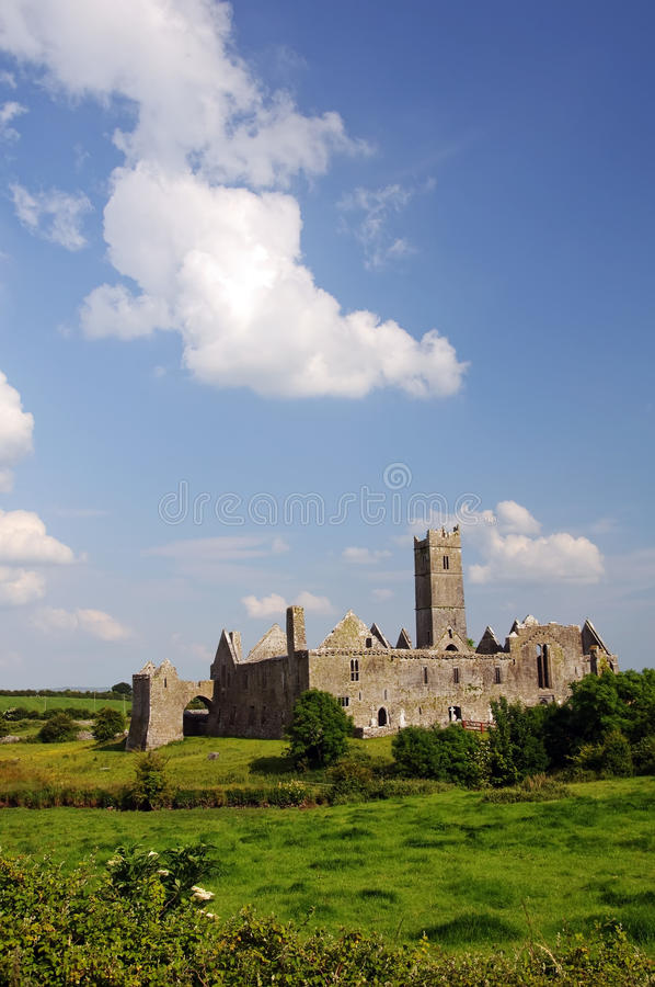 Quin abbey, county clare, ireland royalty free stock photography