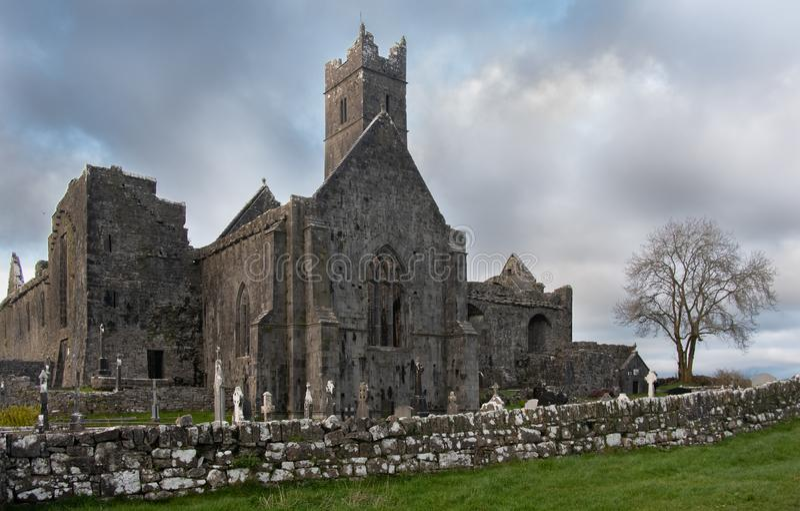 Quin Abbey en Irlande occidentale photographie stock libre de droits