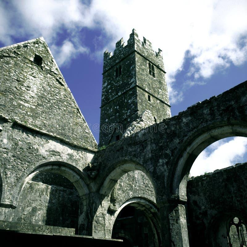 Quin Abtei, Clare lizenzfreie stockfotos