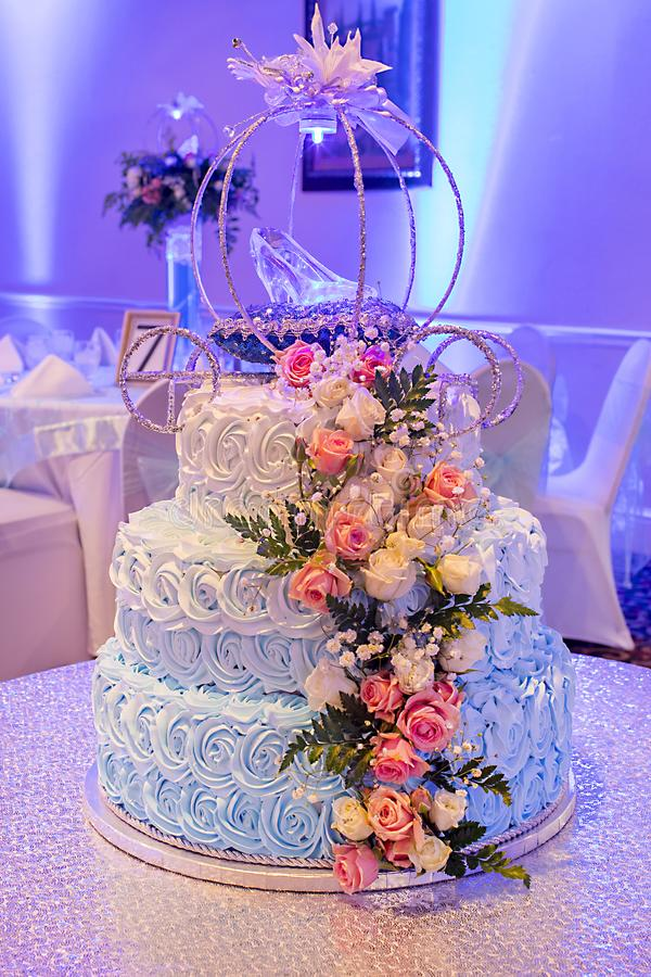 Quinceanera, Sweet 16, Princess Cake. On display at event stock photo