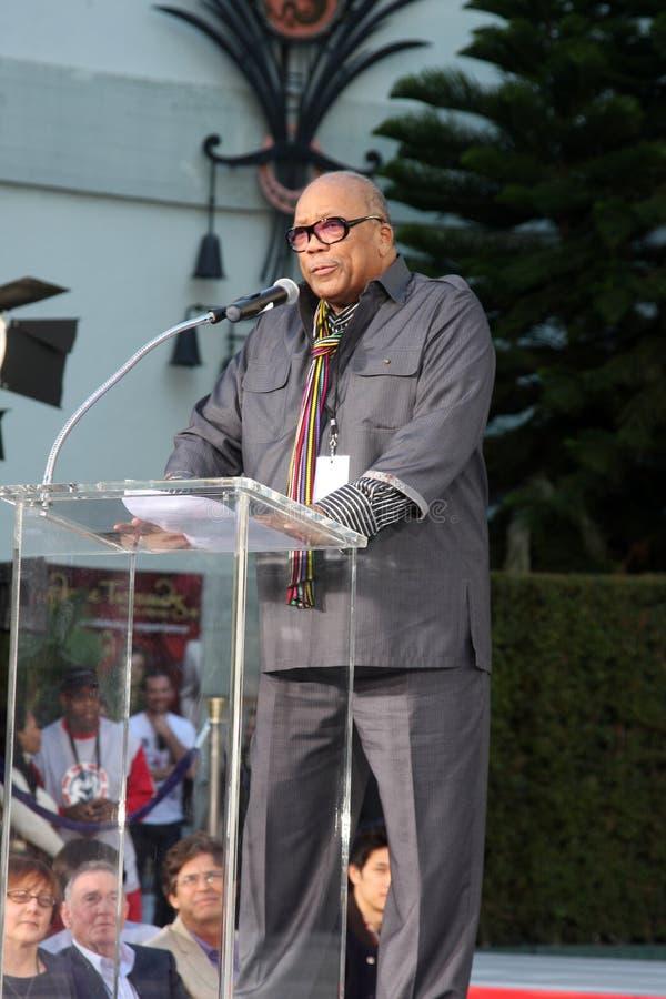 Quincy Jones, Michael Jackson image libre de droits