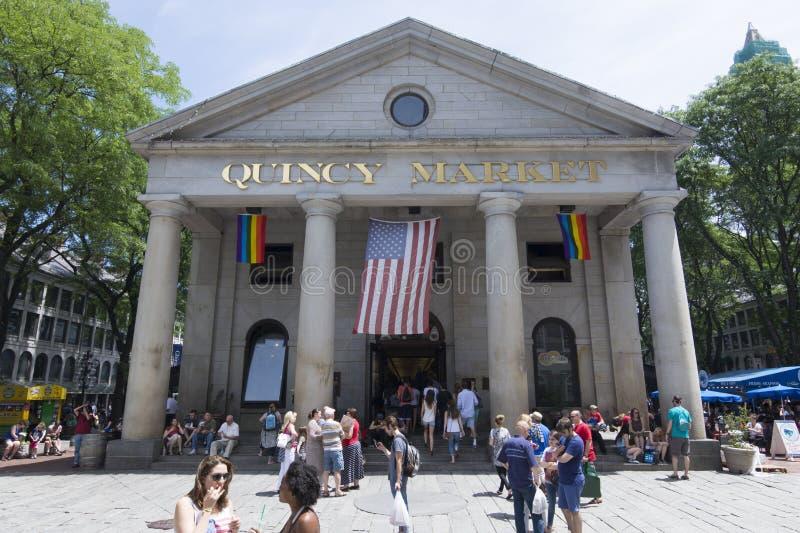 Quincy Market à Boston photo stock