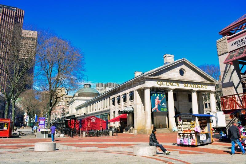 Quincy Market Boston royalty free stock image