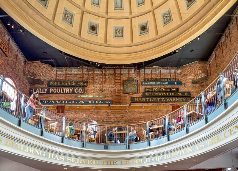 Quincy Market a Boston, U.S.A. fotografie stock libere da diritti