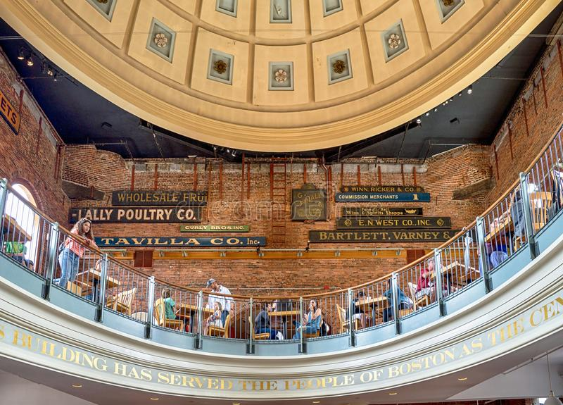 Quincy Market em Boston, EUA fotos de stock royalty free