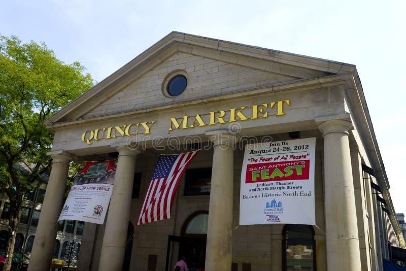 Quincy marknad Boston arkivfoto