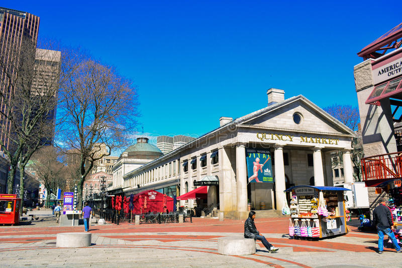 Quincy-Markt Boston lizenzfreies stockbild