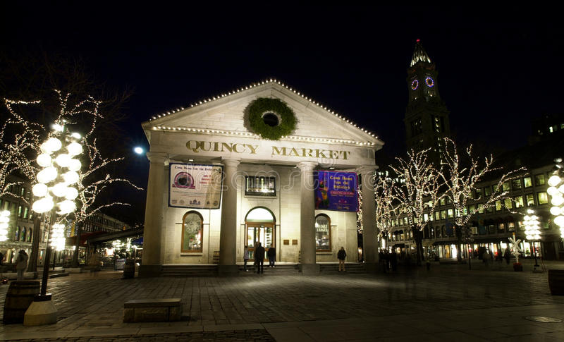 Quincy rynek, Boston, MA obrazy royalty free