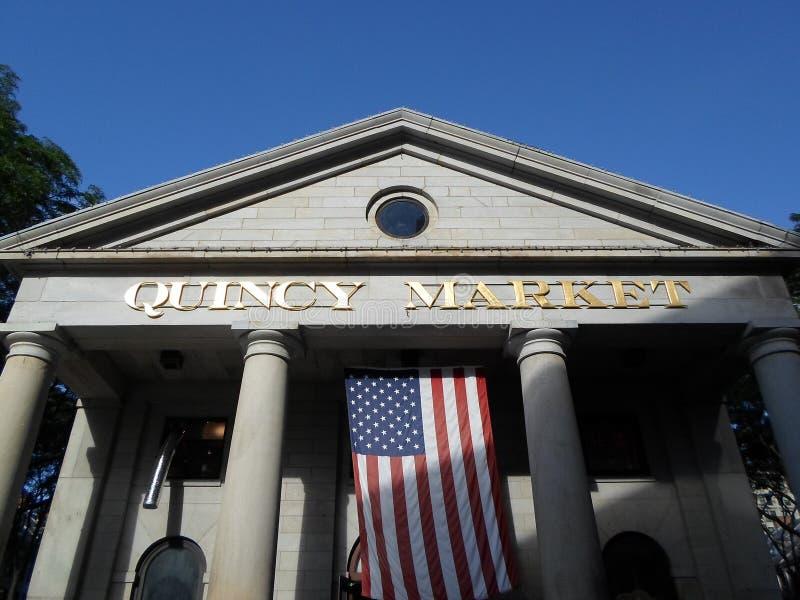 Quincy rynek, Boston, Massachusetts, usa obrazy royalty free