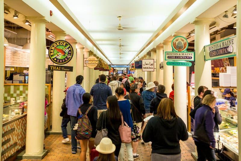 Quincy rynek w Boston obrazy royalty free