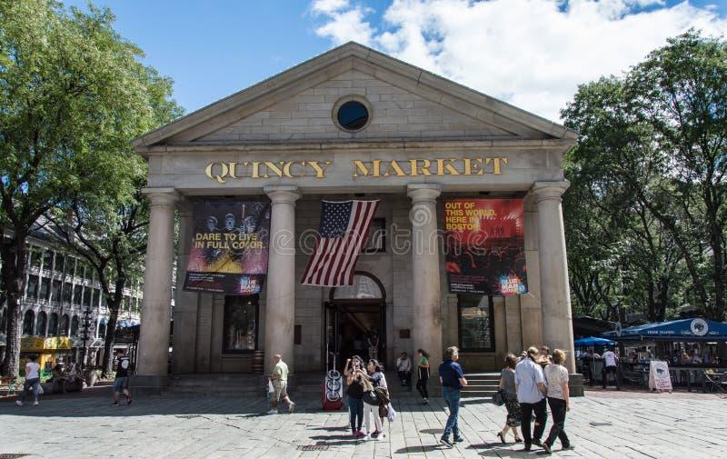 Quincy rynek w Boston zdjęcia royalty free
