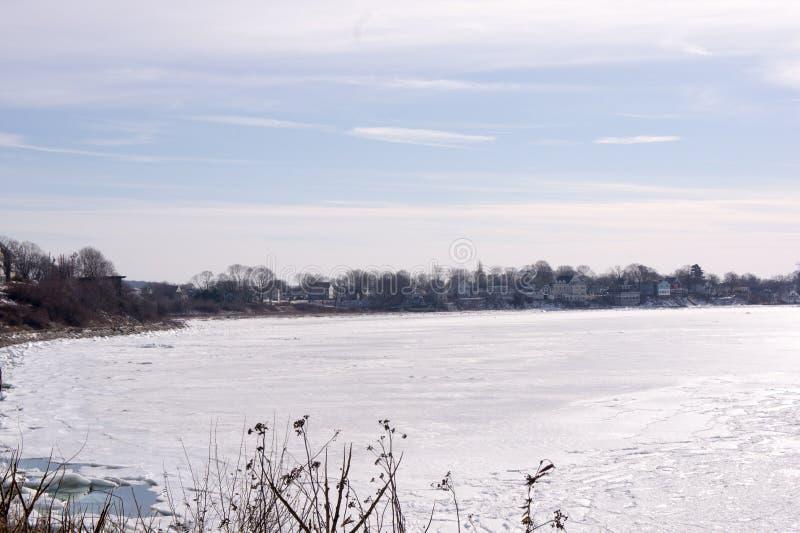 Quincy zatoka w zimie zdjęcia stock