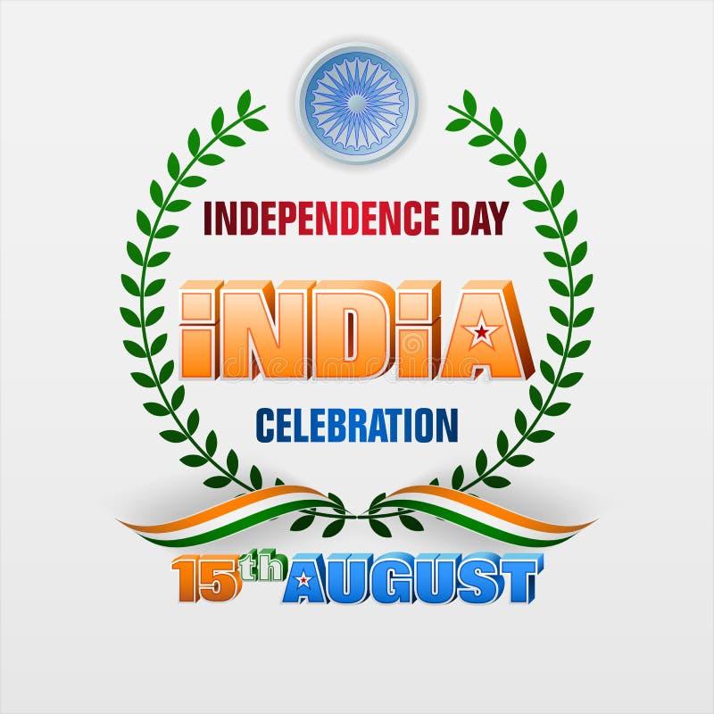 Quindicesimo augusto, celebrazione della festa dell'indipendenza in India royalty illustrazione gratis