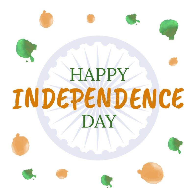 Quindicesimo felice di indipendenza augusta India illustrazione vettoriale