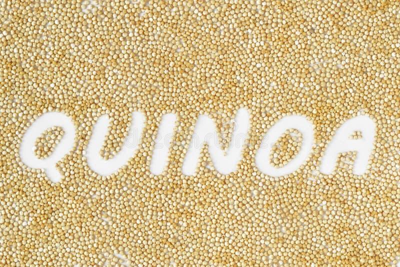 Quinoa γράψιμο σιταριών στοκ φωτογραφία με δικαίωμα ελεύθερης χρήσης