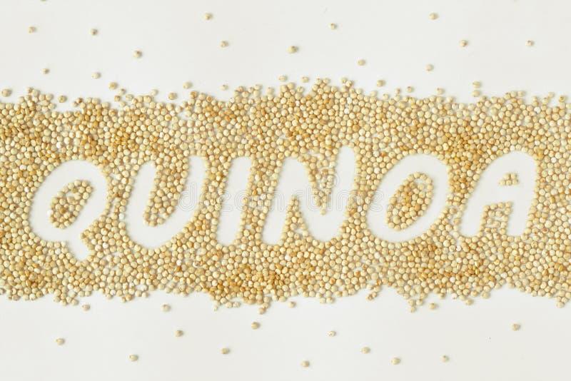 Quinoa γράψιμο σιταριών στοκ φωτογραφία