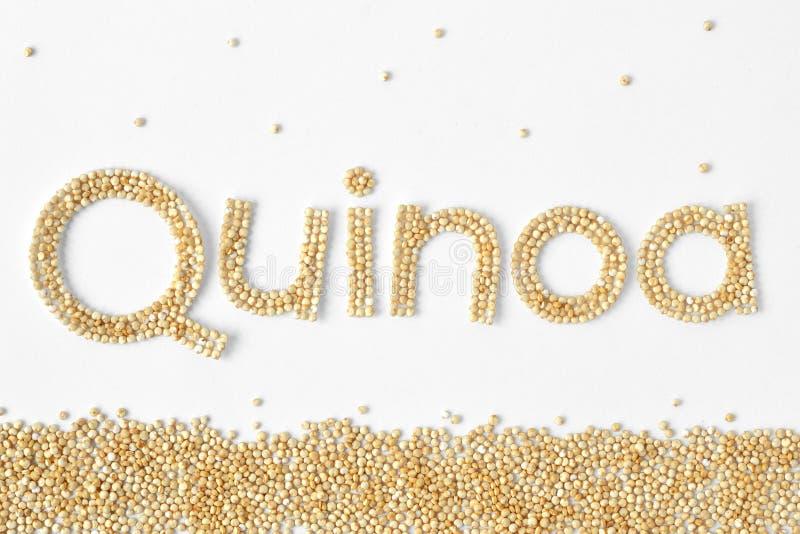 Quinoa γράψιμο σιταριών στοκ φωτογραφίες με δικαίωμα ελεύθερης χρήσης