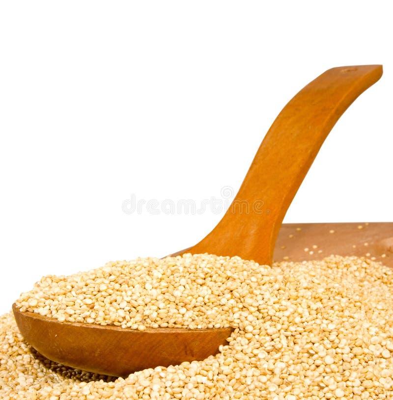 Quinoa τα σιτάρια σε έναν ξύλινο πίνακα κλείνουν επάνω στοκ φωτογραφία με δικαίωμα ελεύθερης χρήσης