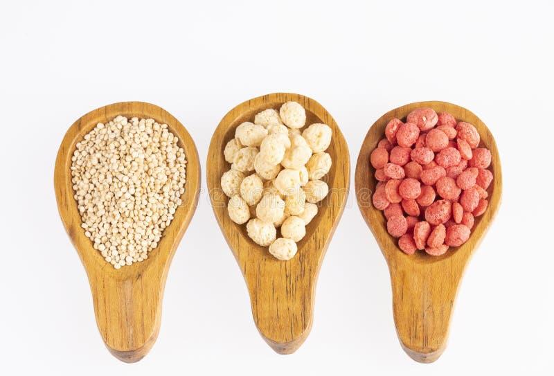 Quinoa bianca e Fragola-condita - Chenopodium quinoa Spazio del testo fotografia stock libera da diritti