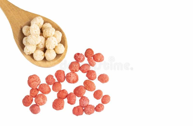 Quinoa bianca e Fragola-condita - Chenopodium quinoa Spazio del testo fotografie stock libere da diritti