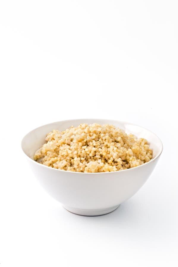 Quinoa cucinata fotografia stock