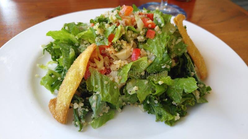 Quinoa en Greens Salade royalty-vrije stock fotografie