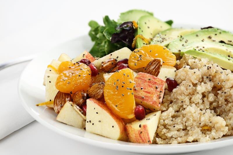 Quinoa et salade d'Apple image libre de droits