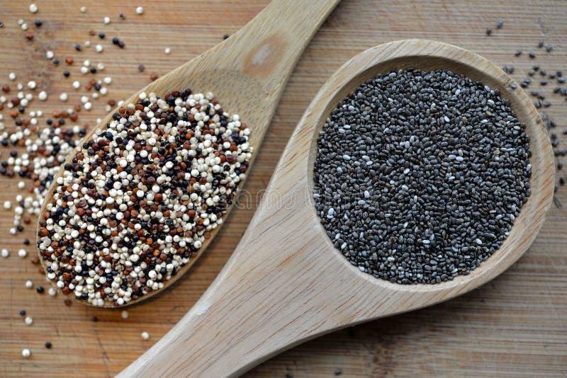 Quinoa i Chia zdjęcia stock