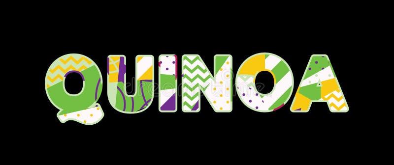 Quinoa-Konzept-Wort Art Illustration vektor abbildung
