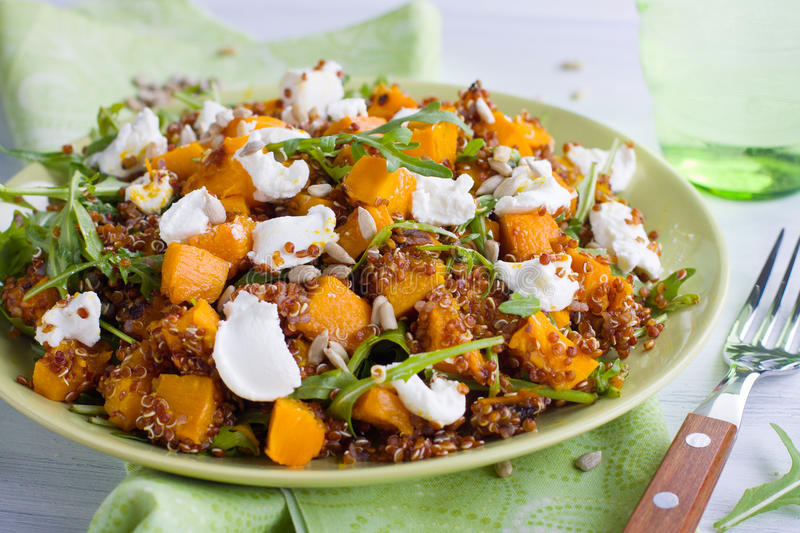Quinoa pumpkin salad royalty free stock image