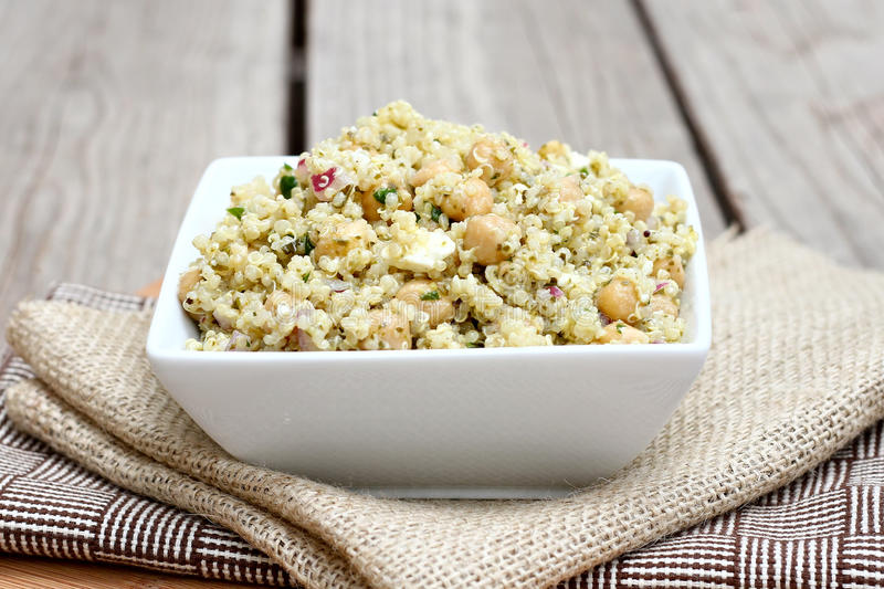 Download Quinoa Salad With Chickpeas Stock Photo - Image: 25297318