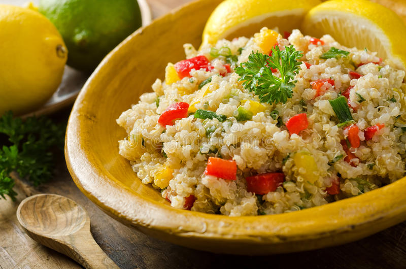 Download Quinoa Salad stock image. Image of pepper, parsley, meal - 34941513