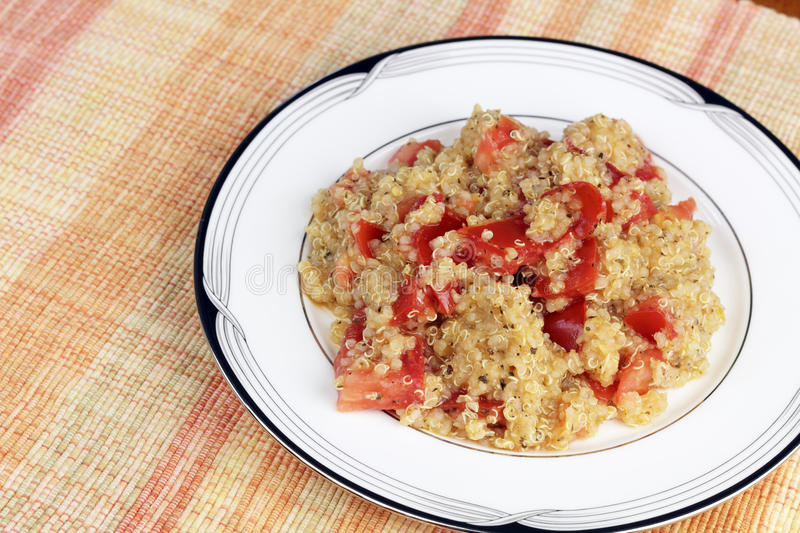 Download Quinoa With Tomatoes And Herbs Meal Stock Photo - Image: 90121942