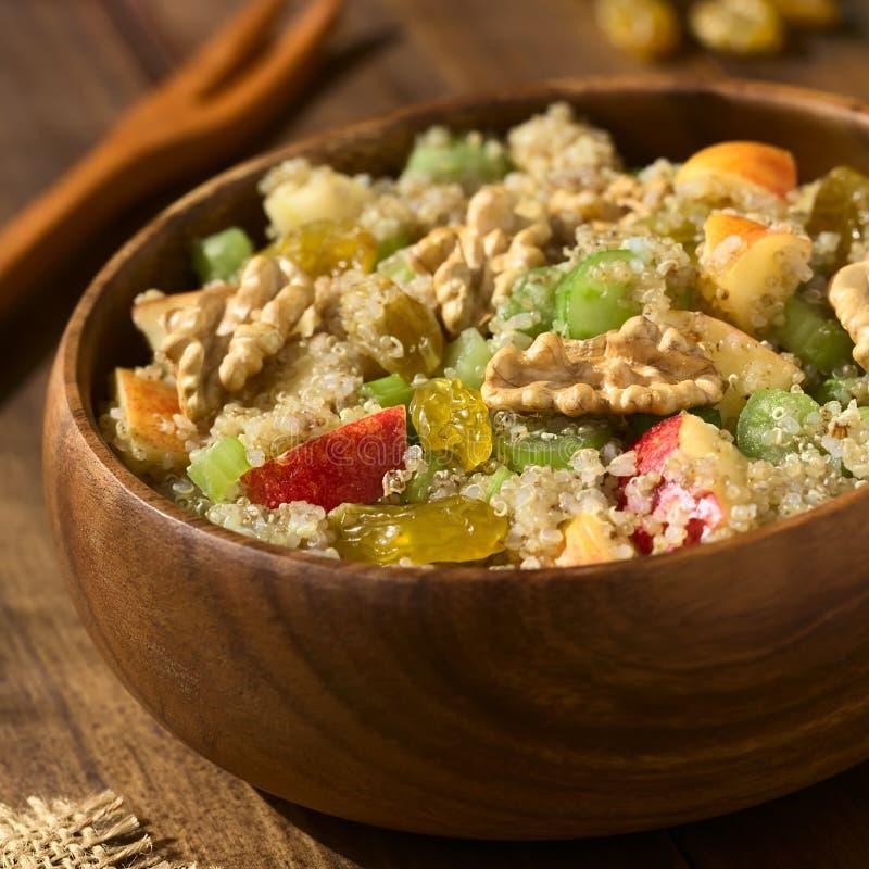 Vegan Quinoa Waldorf Salad royalty free stock photo
