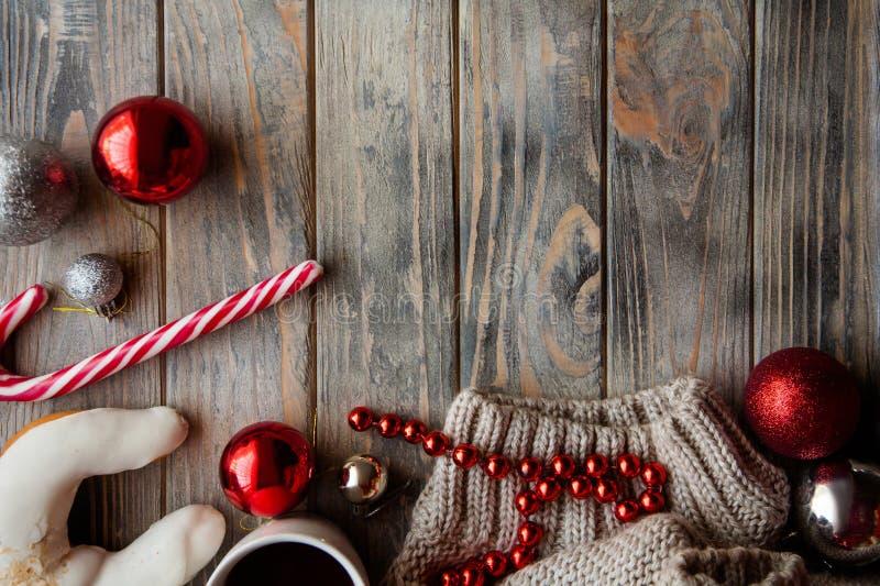 Quinquilharia christmassy acolhedor festiva da decoração da atmosfera fotos de stock royalty free