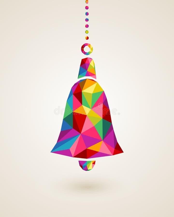 Quinquilharia de suspensão colorida do sino do Natal ilustração royalty free